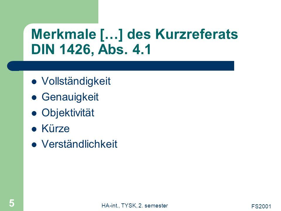 Merkmale […] des Kurzreferats DIN 1426, Abs. 4.1